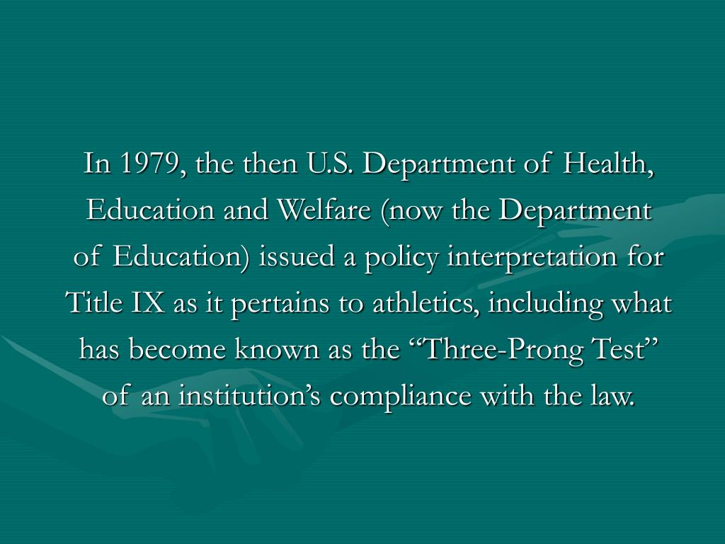 In 1979, the then U.S. Department of Health,