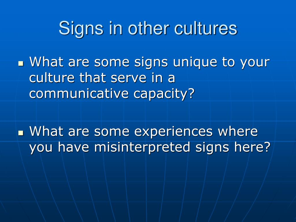 Signs in other cultures