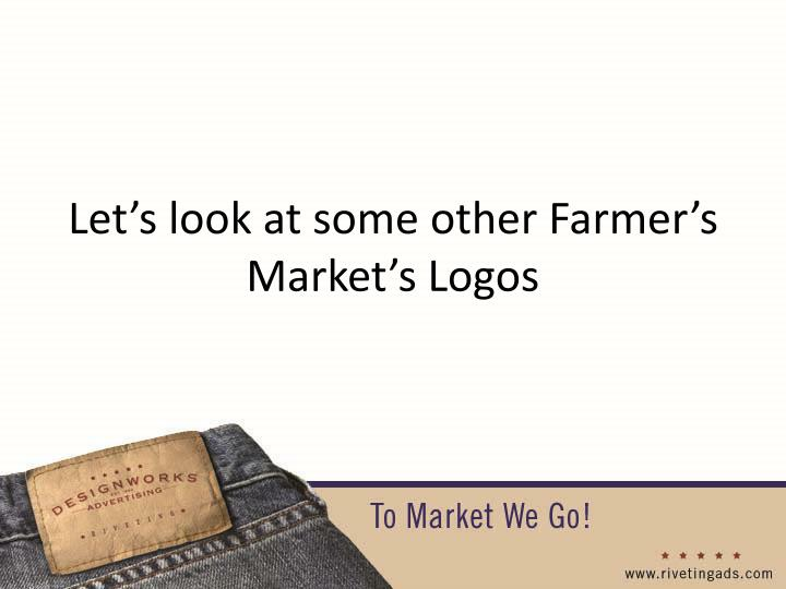 Let's look at some other Farmer's Market's Logos