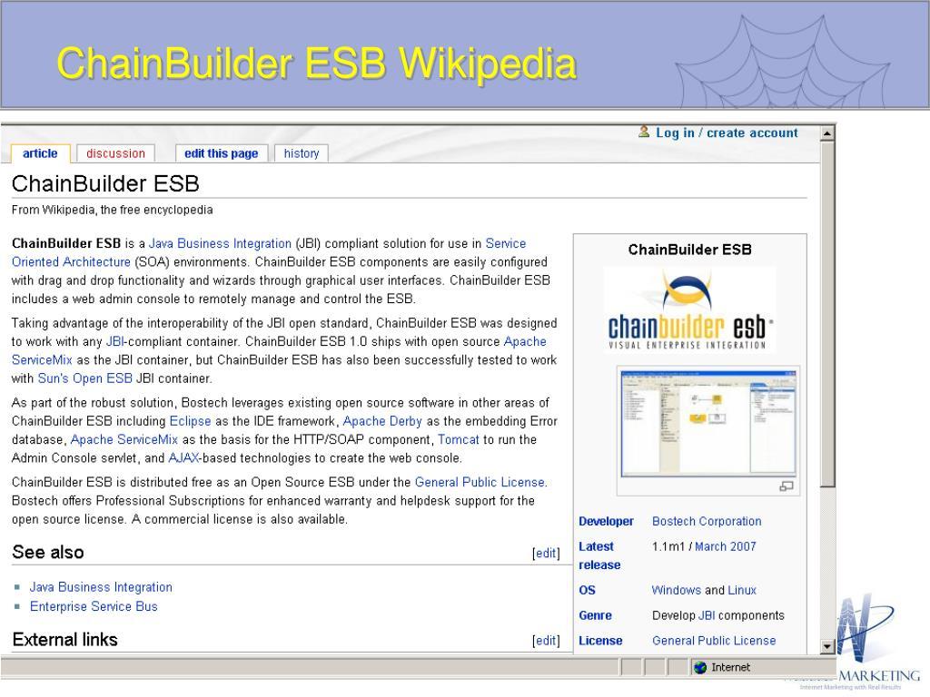 ChainBuilder ESB Wikipedia