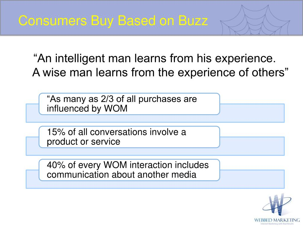 Consumers Buy Based on Buzz