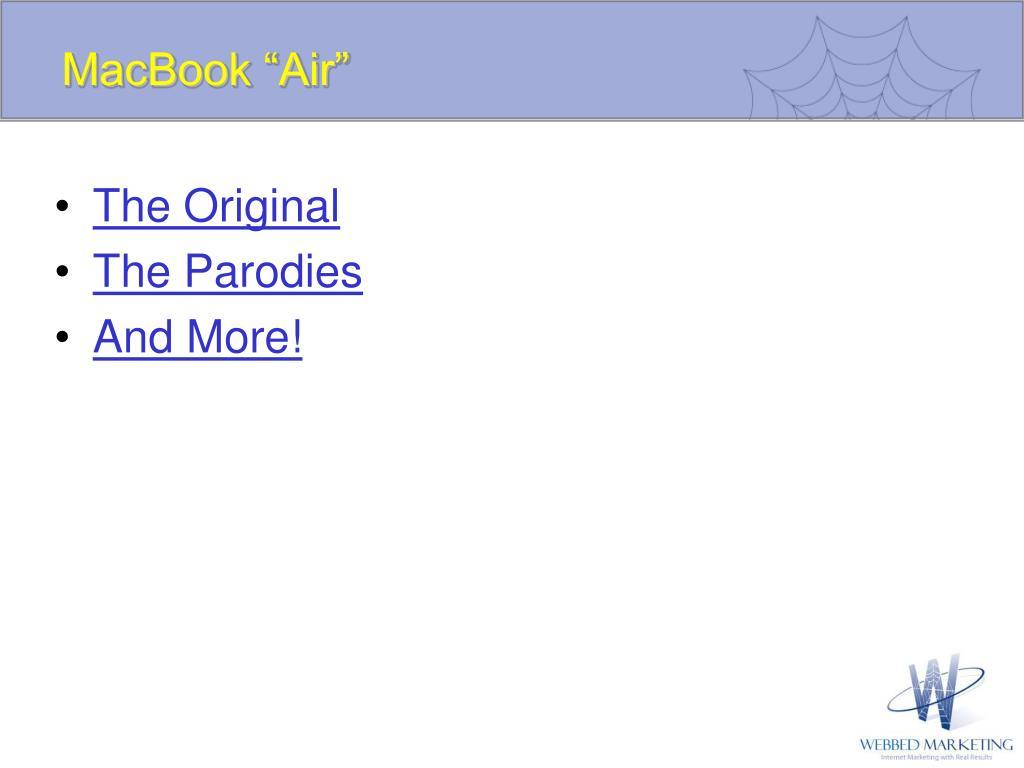 """MacBook """"Air"""""""