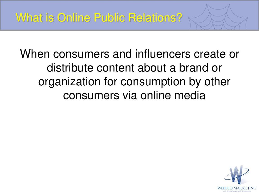 What is Online Public Relations?