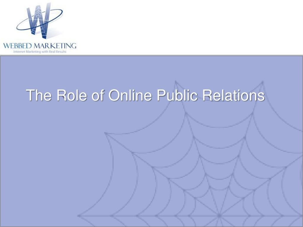 The Role of Online Public Relations
