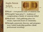 anglo saxon beliefs