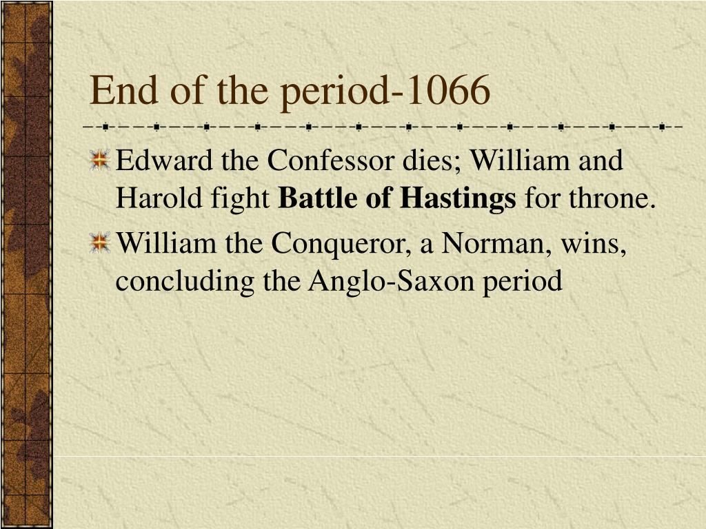 End of the period-1066