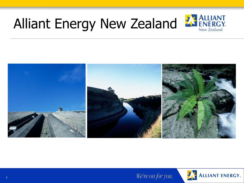 alliant energy new zealand l.