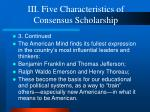 iii five characteristics of consensus scholarship10
