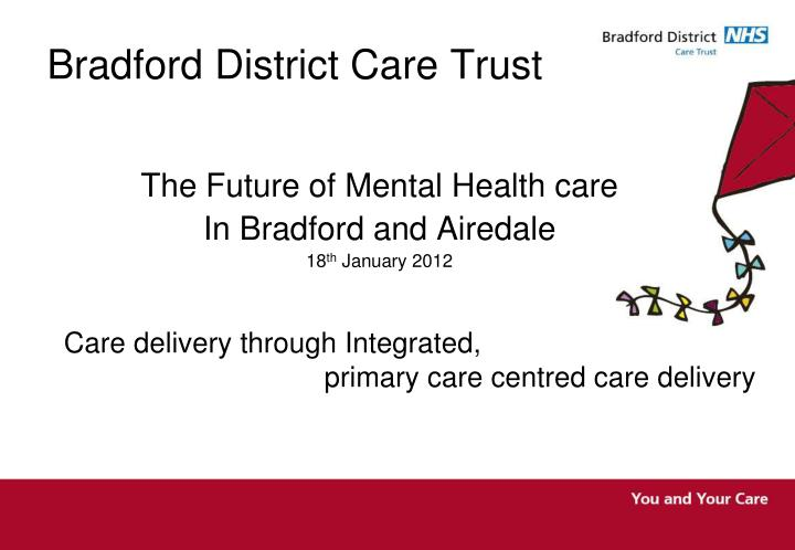 bradford district care trust n.