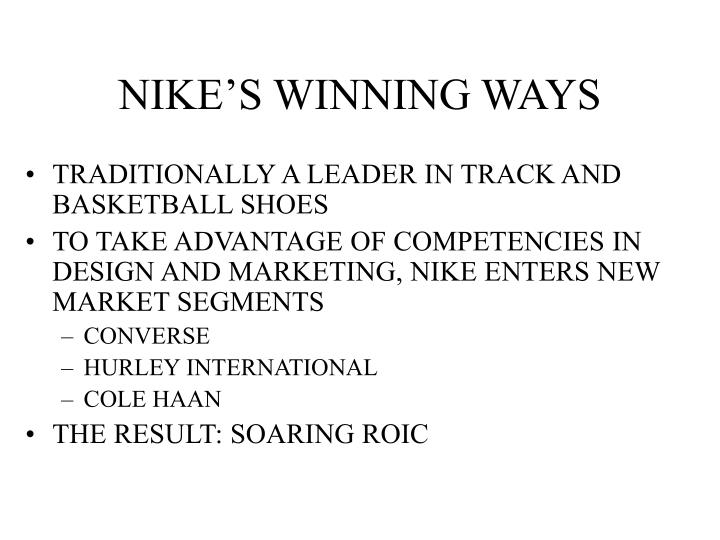 Nike s winning ways