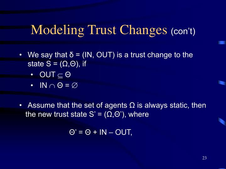 Modeling Trust Changes