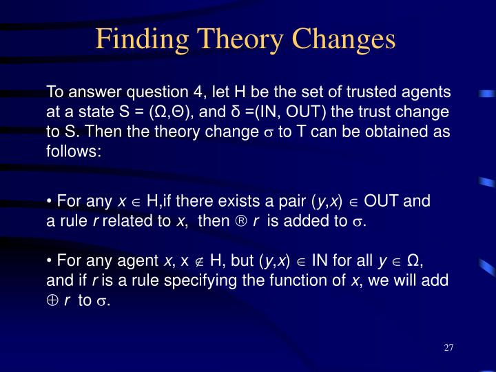 Finding Theory Changes