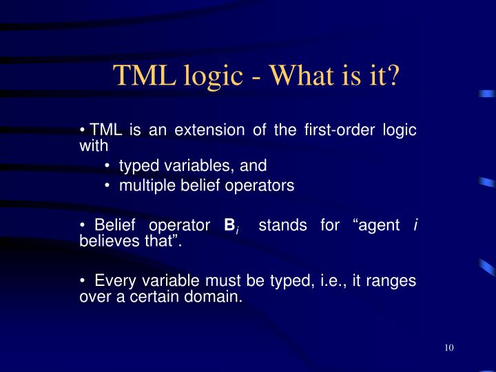 TML logic - What is it?