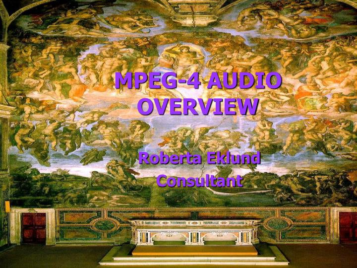 mpeg 4 audio overview n.