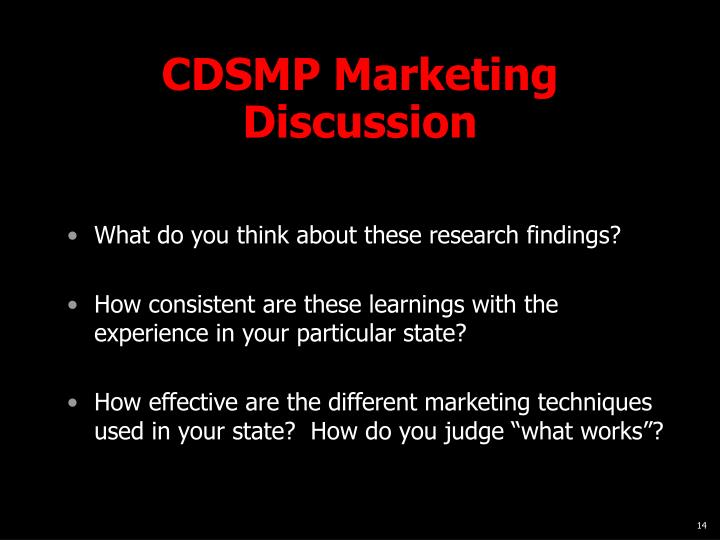 CDSMP Marketing