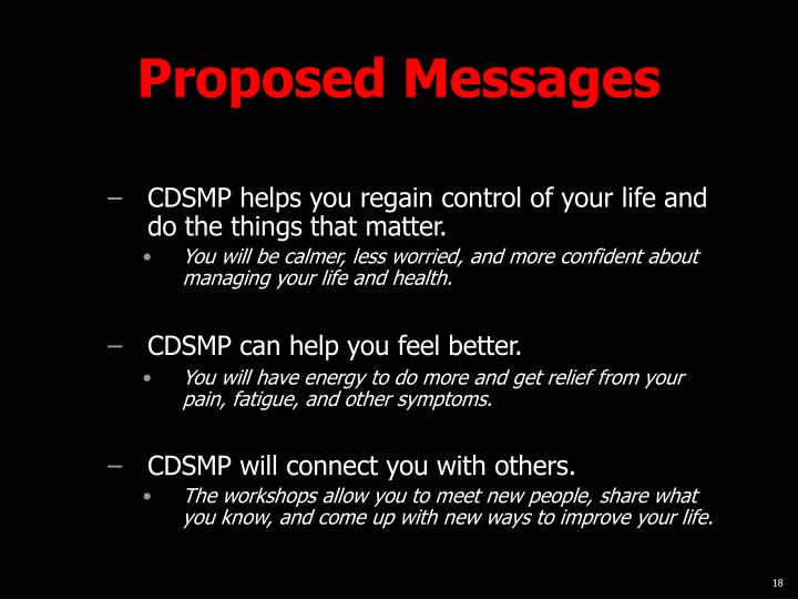 Proposed Messages