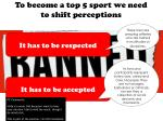 to become a top 5 sport we need to shift perceptions