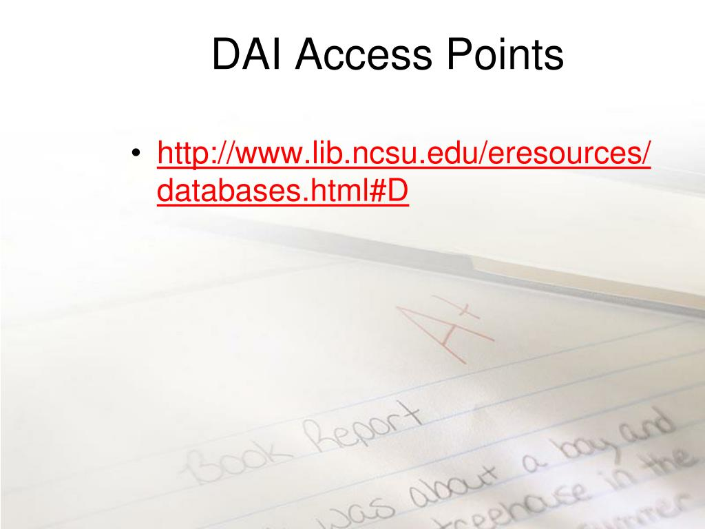 DAI Access Points