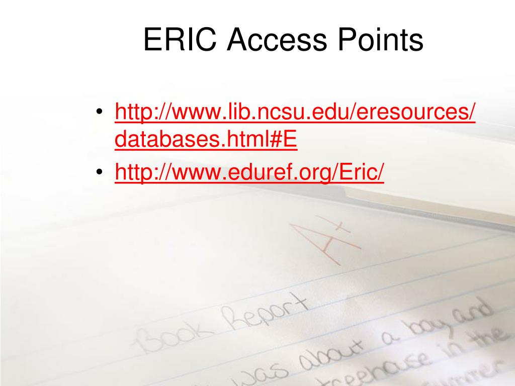 ERIC Access Points