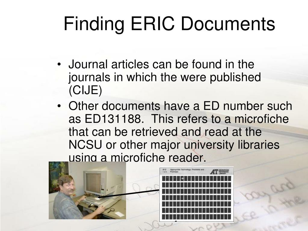 Finding ERIC Documents