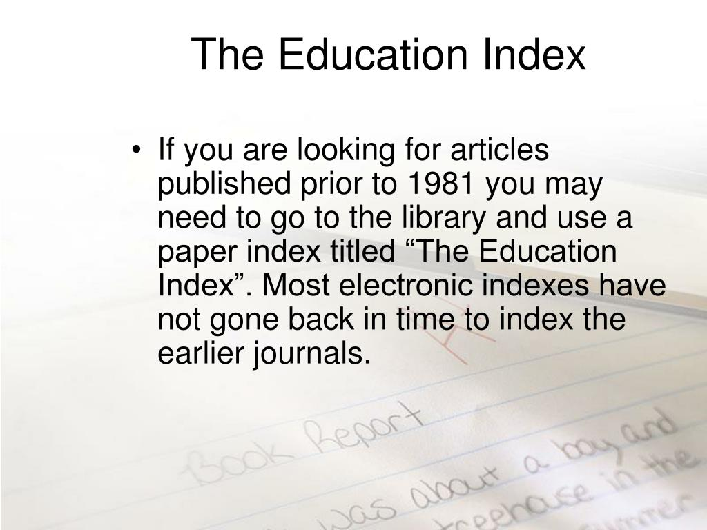 The Education Index