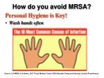 how do you avoid mrsa