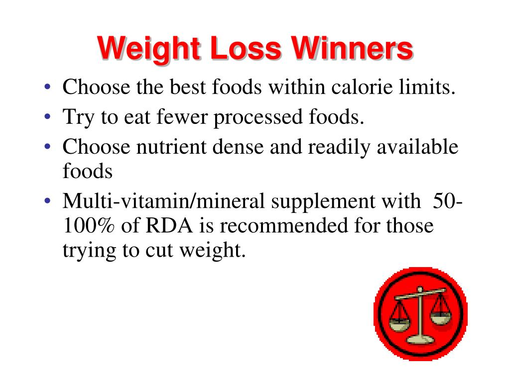 Weight Loss Winners