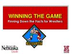 winning the game pinning down the facts for wrestlers