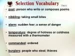 selection vocabulary1