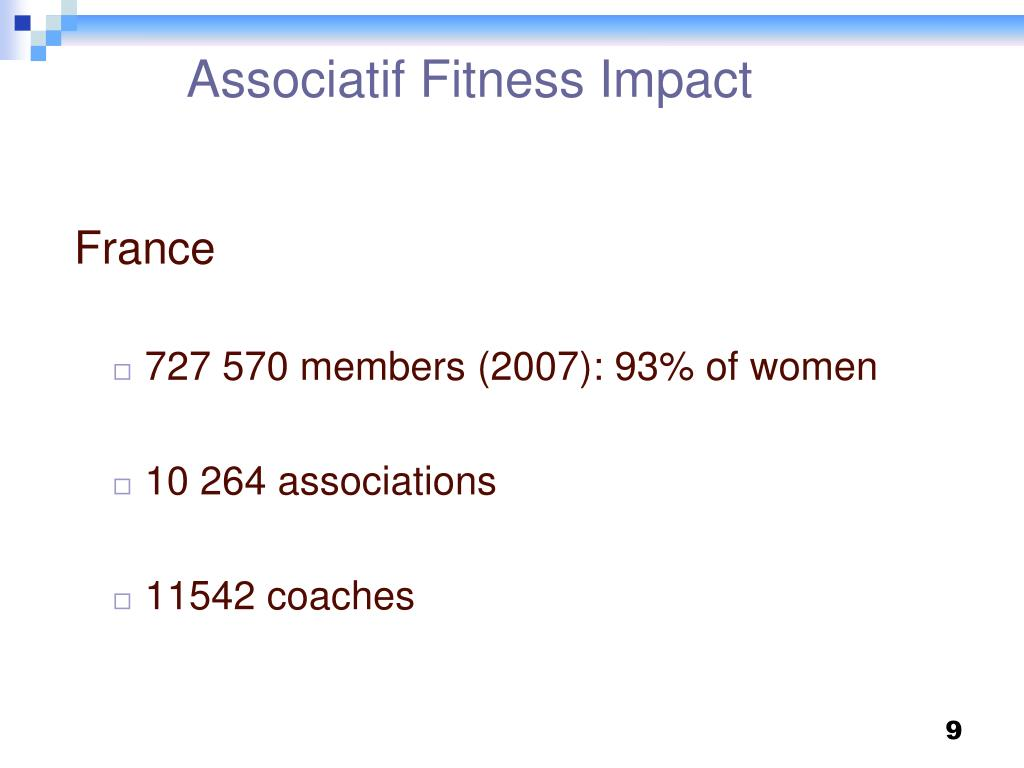 Associatif Fitness Impact