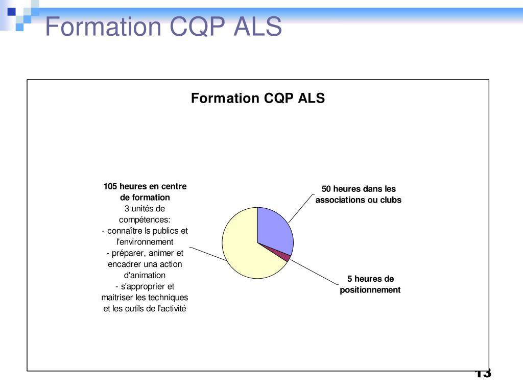Formation CQP ALS