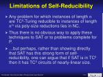 limitations of self reducibility