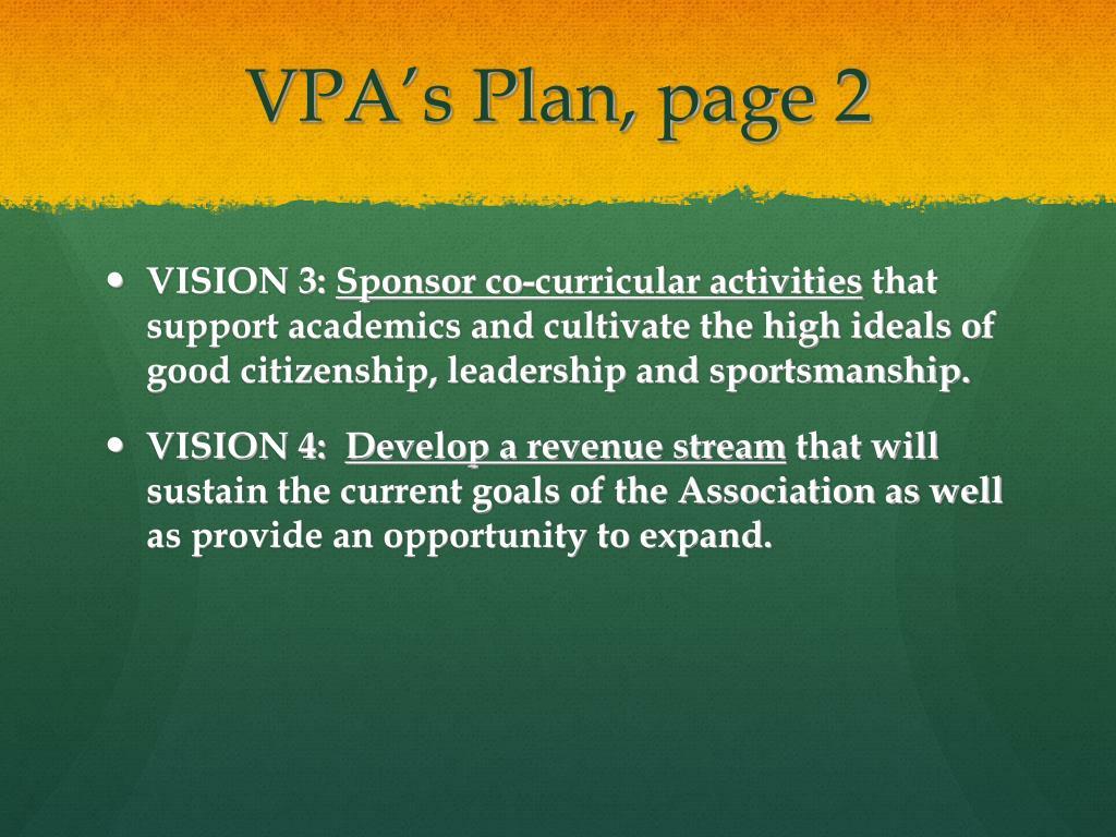 VPA's Plan, page 2