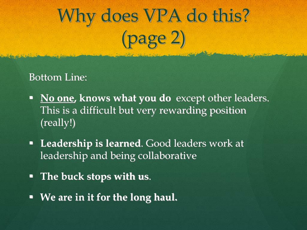 Why does VPA do this?