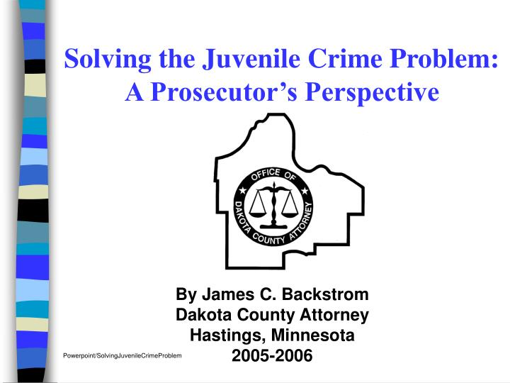 solving juvenile crime Solving juvenile crimes Ø we need a definitive answer when it comes to the from cjs 240 at university of phoenix.