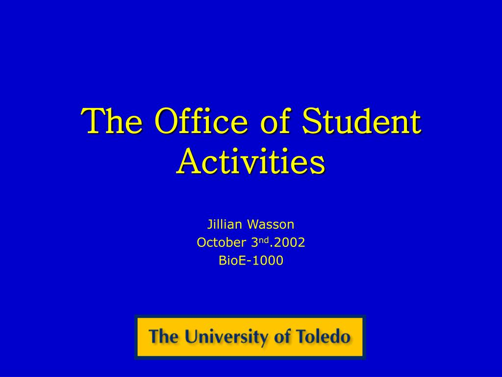 the office of student activities l.