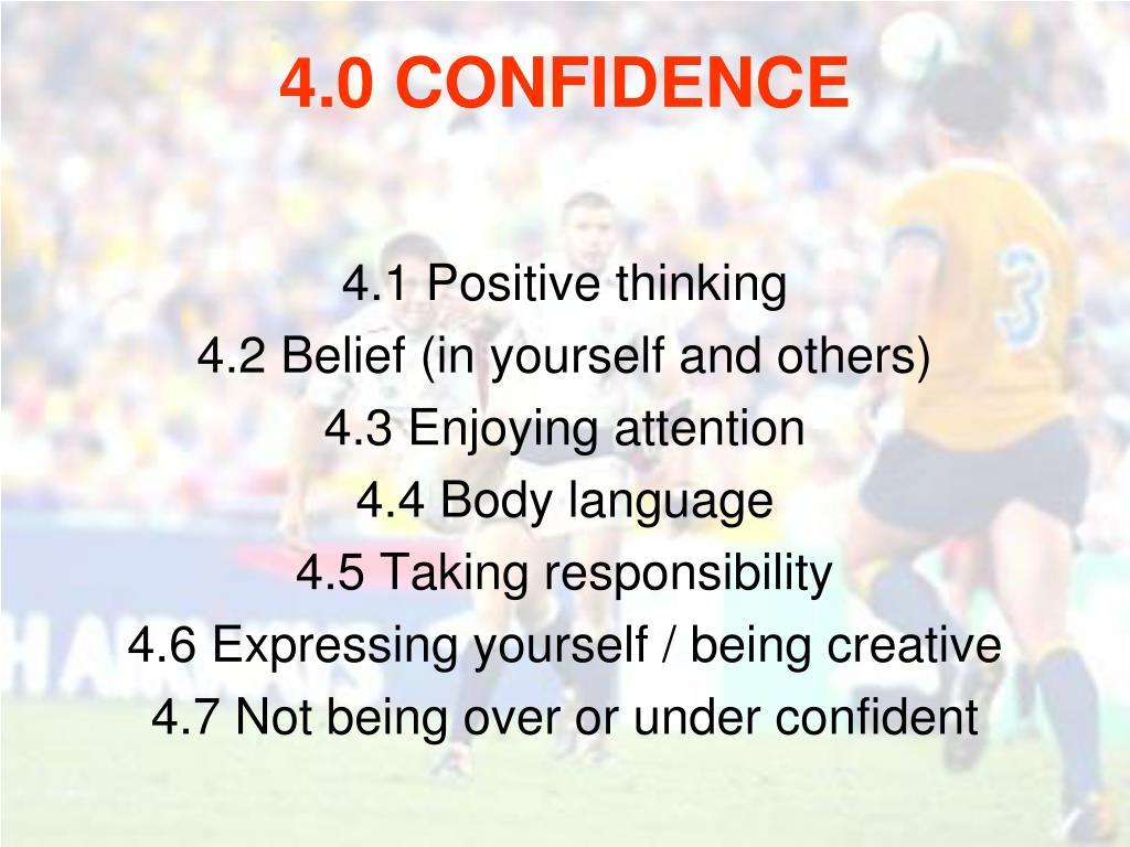 4.1 Positive thinking