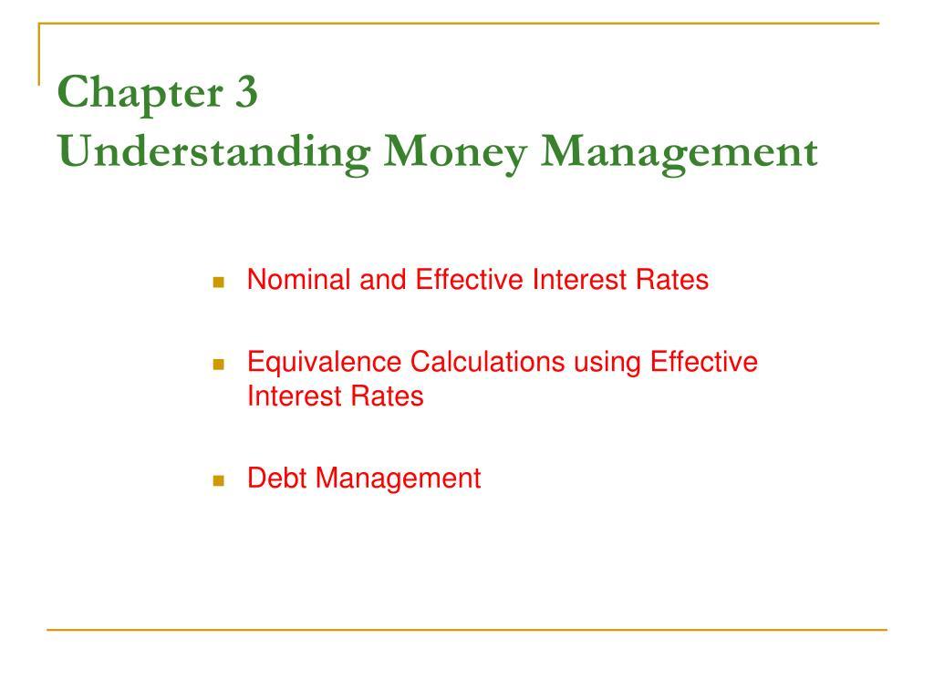 Ppt Chapter 3 Understanding Money Management Powerpoint