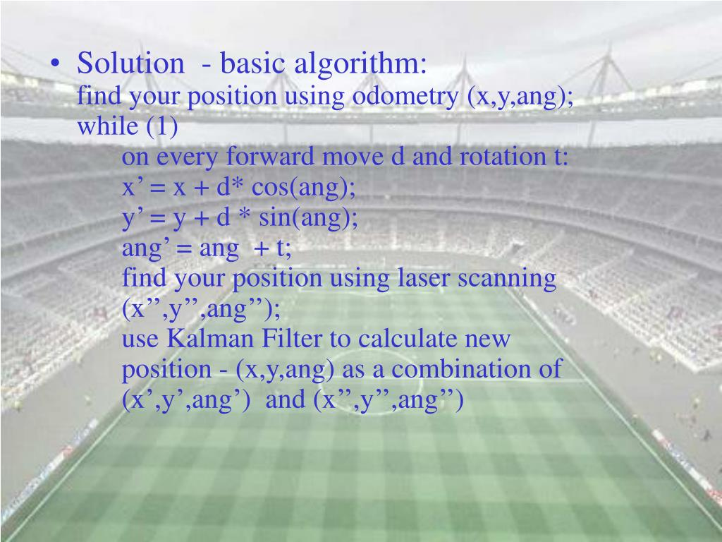 Solution  - basic algorithm: