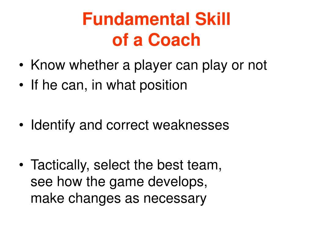 Fundamental Skill