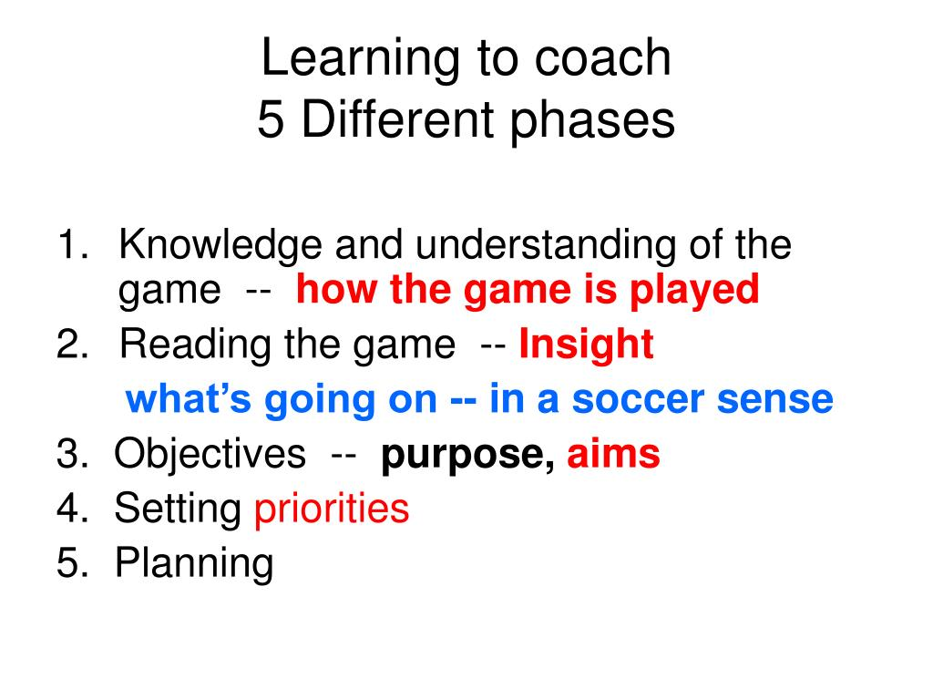 Learning to coach