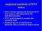 analytical sensitivity of wnv assays