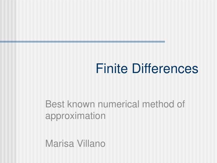 Finite Differences