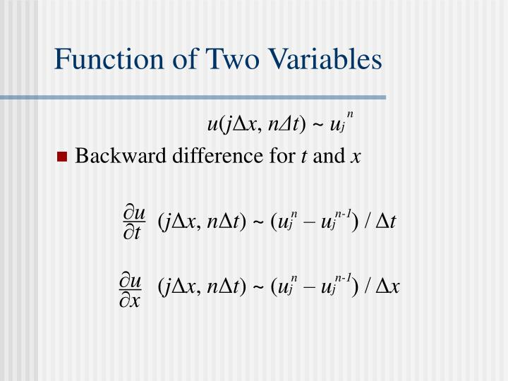 Function of Two Variables