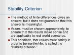 stability criterion1