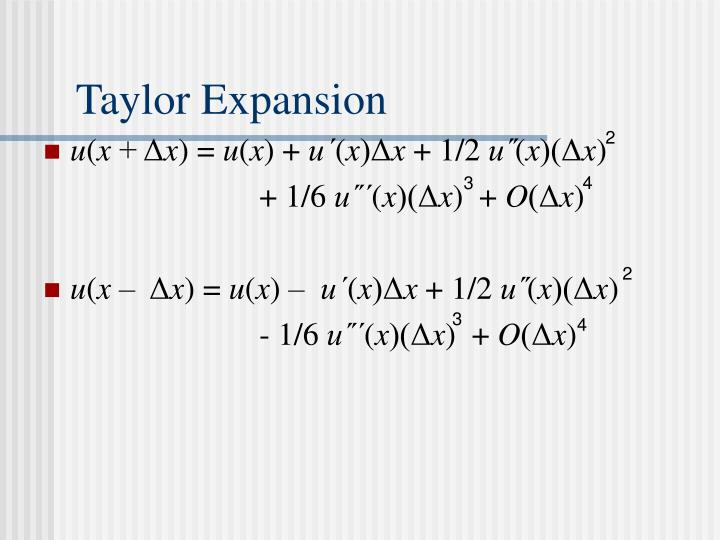 Taylor Expansion