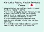 kentucky racing health services center20