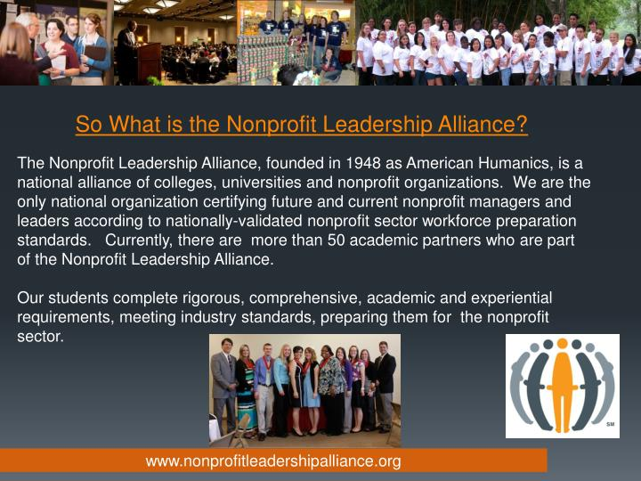 So What is the Nonprofit Leadership Alliance?