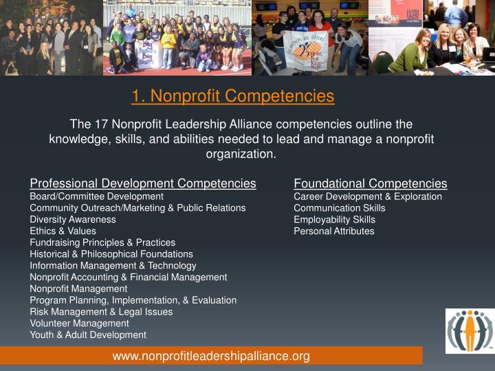 1. Nonprofit Competencies