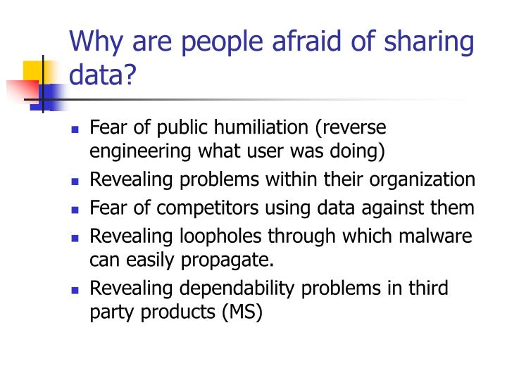 Why are people afraid of sharing data?